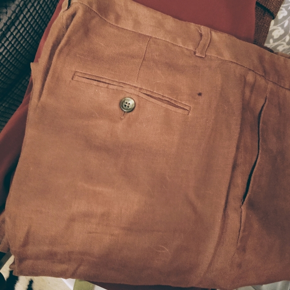 Lauren Ralph Lauren Pants - Tobacco Brown Linen Pants